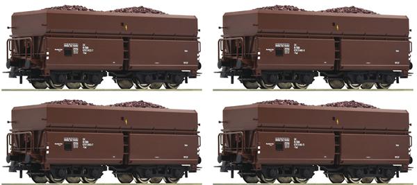 Roco 76063 - 4 piece set: Ore Wagons