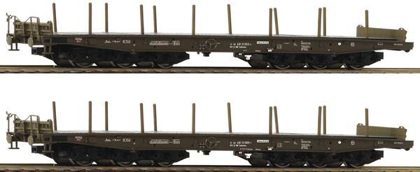 Roco 76074 - 2 piece set: Heavy Transport Wagons, BW