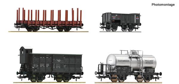 Roco 76077 - Dutch Goods wagon Set