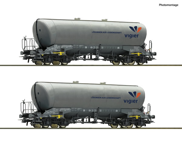 Roco 76084 - Swiss Silo wagon Set, Vigier Cement