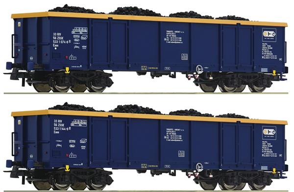 Roco 76086 - 2-piece set: Gondolas, Chem Trans Logistic