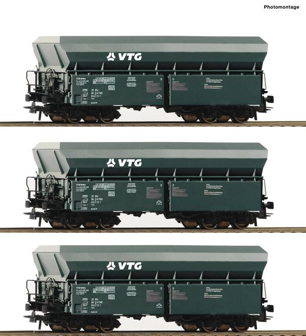 Roco 76092 - German Self-unloading hopper wagon Set of the VTG