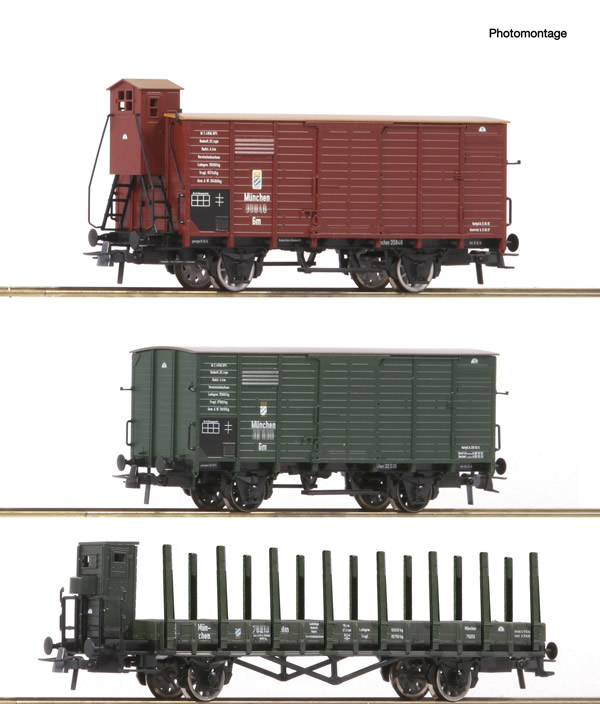 Roco 76094 - German Goods wagons Set of the K.Bay.Sts.B.