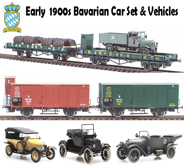 Roco 760941 - 1900s Bavarian Car Set & Vehicles