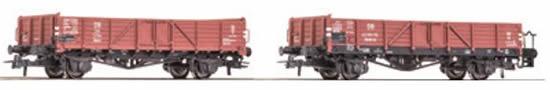 Roco 76109 - 2pc Gondola Set, DB