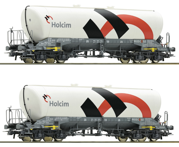 Roco 76138 - 2 piece set: Silo wagons, Holcim