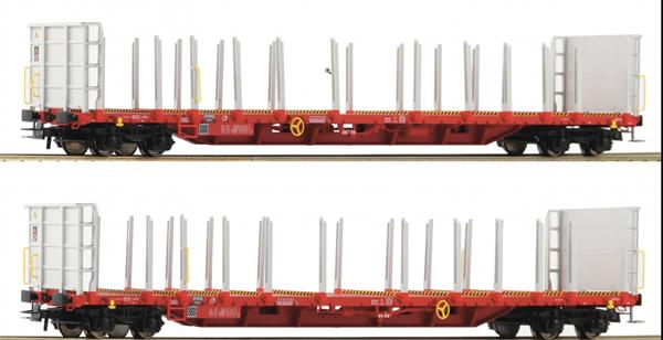 Roco 76142 - 2 piece set: Stake wagons, RCW