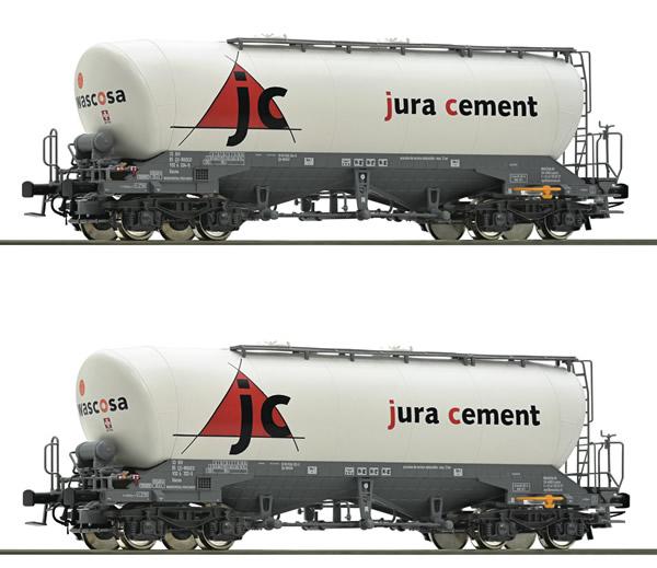 Roco 76146 - 2 Piece Silo Wagon Set jura cement