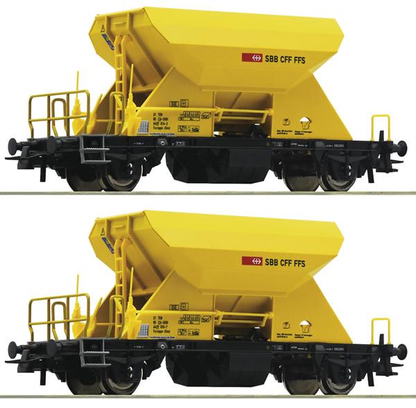 Roco 76154 - 2 piece set: Hopper wagons, SBB