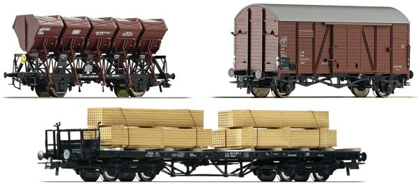 Roco 76167 - German 3 Piece Freight Car Set Höllental #2 of the DB