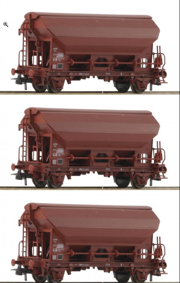 Roco 76176 - 3 piece set: Swing roof wagons, SNCB