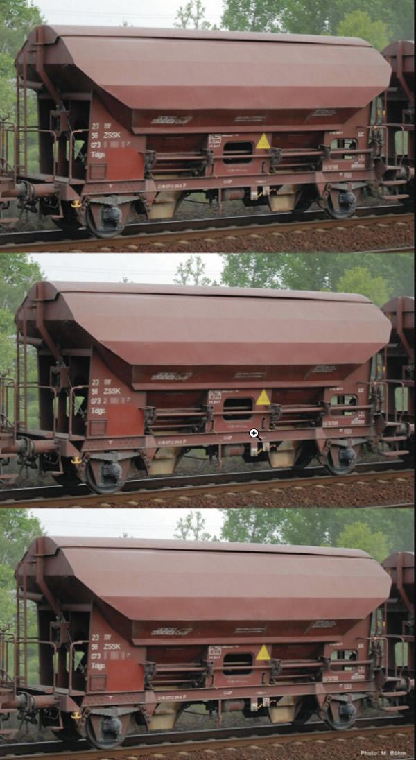 Roco 76177 - 3 piece set swing roof wagons, ZSSK