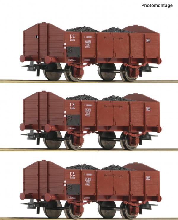 Roco 76199 - 3 piece set: Open goods wagons, FS