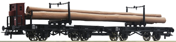 Roco 76405 - Prussian Swivelling bolster wagon unit of the K.P.E.V.