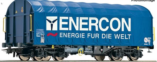 Roco 76448 - Slide tarpaulin wagon, Enercon