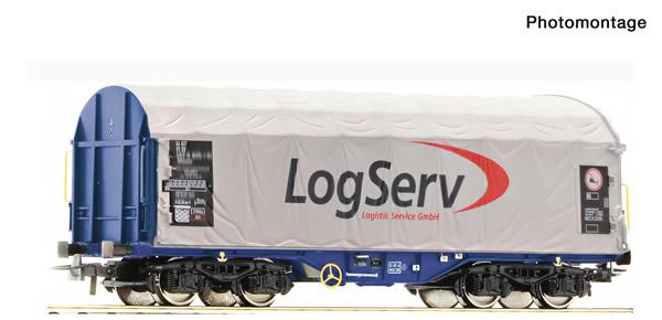 Roco 76451 - Austrian Slide tarpaulin wagon of the ÖBB