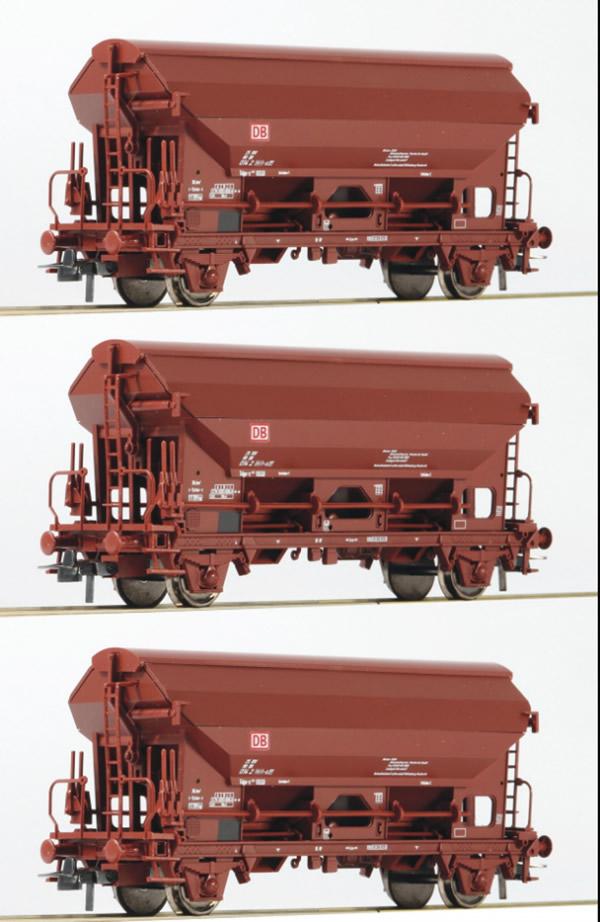Roco 76575 - 3 piece set: Swing roof wagons, DB AG