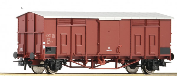 Roco 76597 - Pitched roof wagon, FS