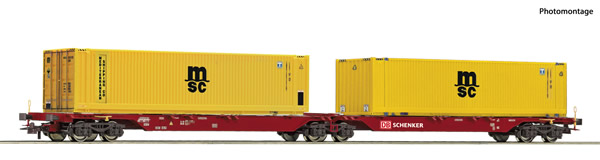 Roco 76630 - German Container carrier wagon of the DB-AG