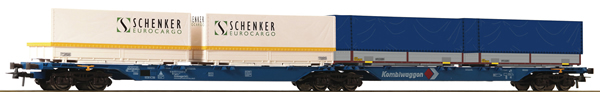 Roco 76633 - Double Container Carrier Wagon, Kombiwaggon