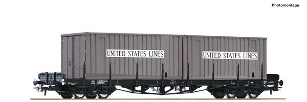 Roco 76714 - Stake wagon + United States Lines