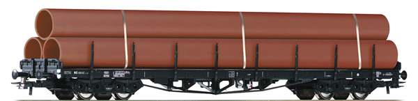 Roco 76792 - Dutch Stake Wagon with Tube Load of the NS