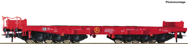 Roco 76825 - German Heavy duty flat wagon of the DB-AG