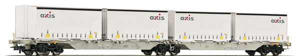 Roco 76915 - Swiss Double Carrier Wagon Axis of the AAE