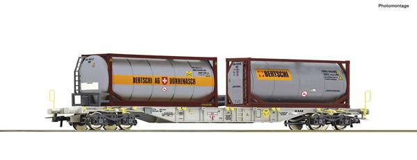 Roco 77340 - Container carrier wagon + Bertschi Tankcontainer