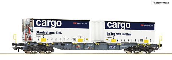 Roco 77341 - Container carrier wagon + SBB Cargo