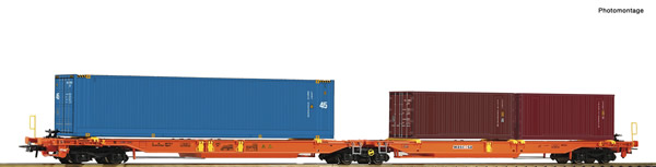 Roco 77360 - Articulated double pocket wagon
