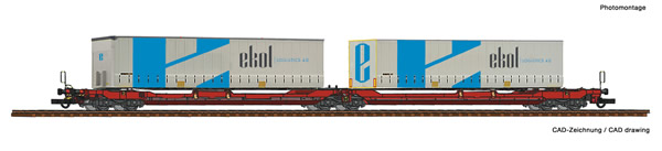 Roco 77386 - Articulated double pocket wagon T3000e + Ekol