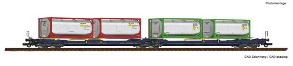 Roco 77388 - Articulated double pocket wagon T3000e + Tankcontainer