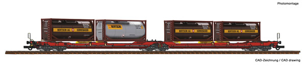 Roco 77389 - Articulated double pocket wagon T3000e + Bertschi