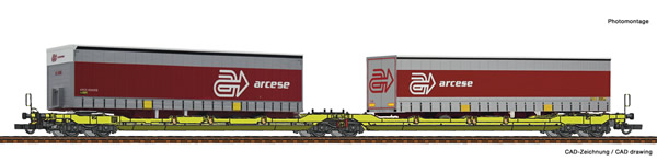 Roco 77391 - Articulated double pocket wagon T3000e + Arcese