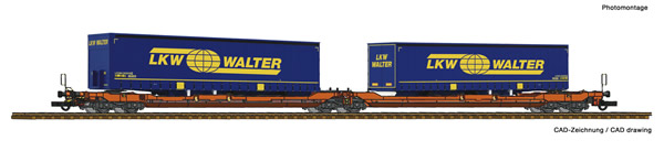 Roco 77393 - Articulated double pocket wagon T3000e + LKW Walter