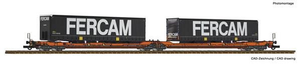 Roco 77394 - Articulated double pocket wagon T3000e + Fercam