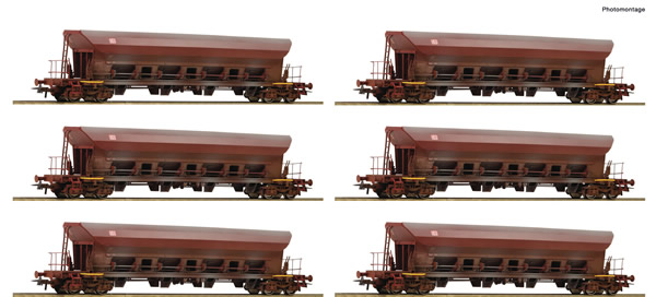 Roco 77915 - German Self-unloading hopper wagon Set (12 Cars) of the DR
