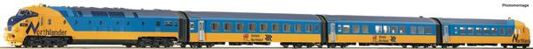 "Roco 78067 - Canadian Diesel multiple Unit Railcar ""Northlander"" of the ONR (Sound)"