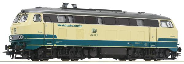 Roco 78763 - German Diesel locomotive class 218 of the DB AG (Sound)