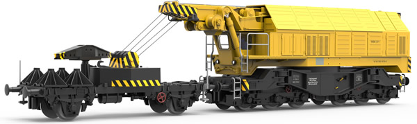 Roco 79035 - German Slewing Railway Crane for digital operation of the DB  (Sound Decoder)