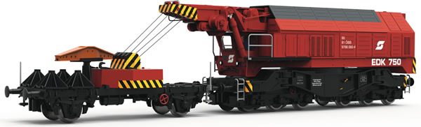 Roco 79036 - Austrian Slewing Railway Crane for digital operation of the ÖBB   (Sound Decoder)
