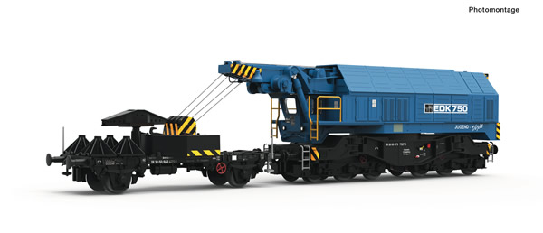 Roco 79037 - German Digital railway slewing crane EDK 750 of the DR