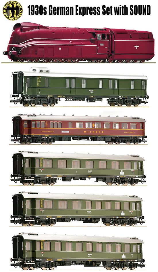 Roco 792051 - 1930s Era II DRG German Express Set with (Sound)