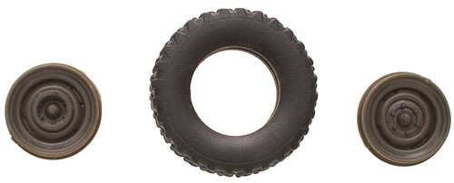 Roco 796 - Rubber Tire Set for Unimog