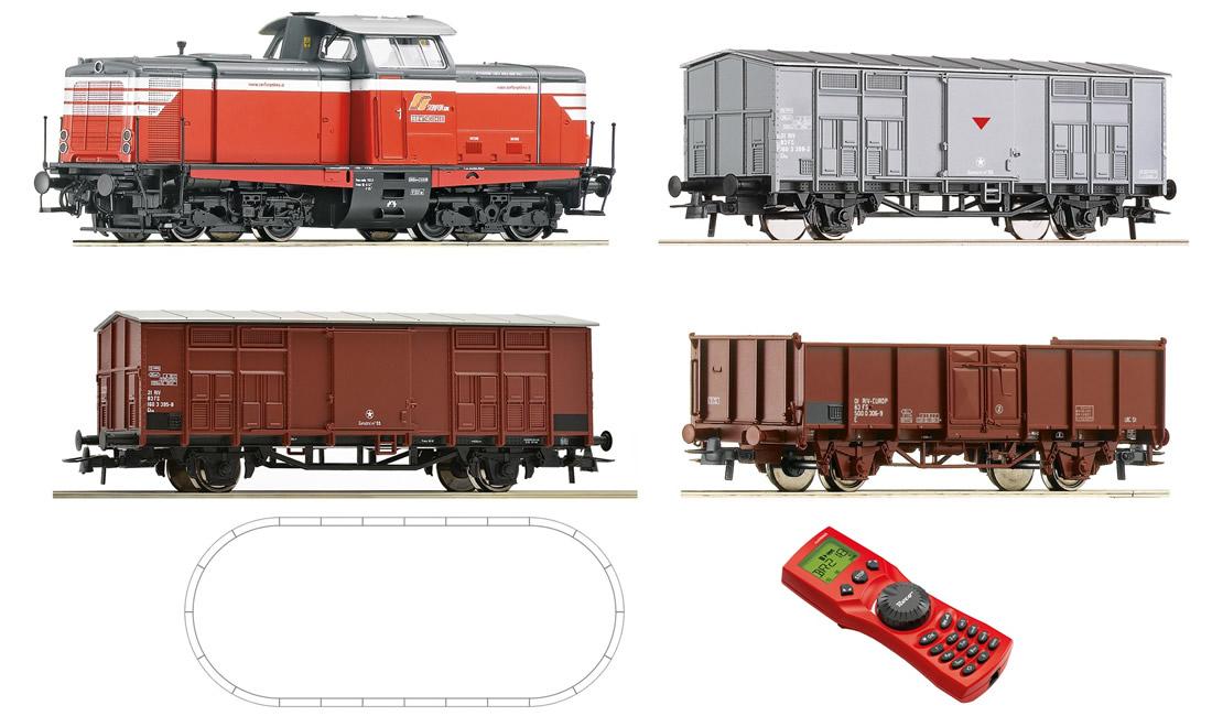 Roco 51280 - Digital Starter Set: Diesel Locomotive K 211 & freight