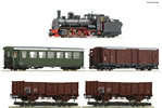 Austrian Steam locomotive 399.06 with mixed passenger train Set of the ÖBB