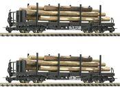 2 piece set: Stake wagons