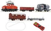 Swiss Digital Starter Set: Electric Locomotive Ee3/3 and freight train of the SBB