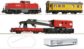 Digital starter set z21 diesel locomotive locomotive series 294 of the DB AG with construction train